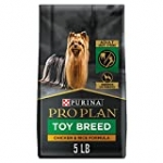Purina Pro Plan Toy Breed Dog Food With Probiotics for Dogs, Chicken & Rice Formula – 5 Pound (Pack of 1), 80 ounce