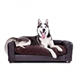 Keet Fluffy Deluxe Pet Bed, Chocolate, Large (40x23x13)