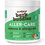 Jack&Pup Dog Allergy Chews – BarkBuddies Aller-Care Soft Chew Bites Itch Relief for Dogs & Allergy Support for Dogs – Dog Immune Supplement, Dog Skin Allergies Treatment and Anti Itch for Dogs (60ct)