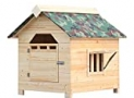 YOT Dog House Wooden Outdoor with Door Windows Pet Log Cabin Kennel Weather Resistant Waterproof with Removable Roof Home Pet Furniture for Small Medium Large Animals (Size : XX-Large)