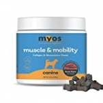 MYOS Canine Muscle & Mobility Chews – Natural Collagen & Glucosamine for Dogs – Bacon Flavor Joint Supplement for Muscle, Bone & Joint Support, 60 Count
