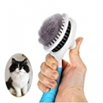 Cat Grooming Brush, Self Cleaning Slicker Brushes for Dogs Cats Pet Grooming Brush Tool Gently Removes Loose Undercoat, Mats Tangled Hair Slicker Brush for Pet Massage-Self Cleaning