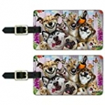 Pet Animals Selfie Dogs Cats Rabbit Luggage ID Tags Cards Set of 2