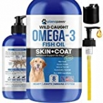 Omega 3 Fish Oil for Dogs – Better Than Salmon Oil for Dogs – Dog Fish Oil Supplement – Reduce Shedding & Itching – Supports Joints, Brain, Heart Health- Dog Skin and Coat Supplement – Fish Oil Liquid