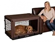 """Pet Gear PG5942BCH """"The Other Door"""" 4 Door Steel Crate with Plush Bed and Travel Bag, 90 lb., 42 inch, Chocolate"""