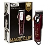 Wahl Professional 5-Star Cord/Cordless Magic Clip #8148 – Great for Barbers & Stylists – Precision Cordless Fade Clipper Loaded with Features – 90+ Minute Run Time
