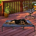 """PETMAKER 80-PET6086 Elevated Pet Bed-Portable Raised Cot-Style Bed W/ Non-Slip Feet, 48""""x 35.5""""x 9"""" for Dogs, Cats, and Small Pets-Indoor/Outdoor Use by Petmaker (Blue), XL"""