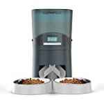Cat Feeder, HoneyGuaridan 7L Automatic Pet Feeder for Two Cats Dogs Food Dispenser Auto Cat Feeder – 6 Meal Portion Control, Distribution Alarm, Programmable Timer Feeder, Customizable Voice Recorder
