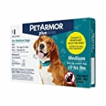 PetArmor Plus for Medium Dogs 23-44 lbs, Flea and Tick Protection for Dogs, Long-Lasting and Fast-Acting Topical Dog Flea Treatment, 1-Month Supply