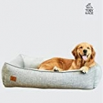 Toby & Ace Buddy DeepSleep Orthopedic Bed with Free Signature Leash – Veterinarian Approved Memory Foam Dog Bed – Therapeutic Design for Anxiety & Pain – Washable, Durable Cover (Large)