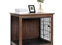 BingoPaw End Table Dog Crate with Double Door,Wooden Pet Kennel with Floor Tray, Top Detachable, Indoor Dog House for Small Medium Dogs