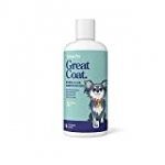 Great Coat Oatmeal Dog Shampoo – Moisturizing Shampoo for Dogs with Aloe Vera for Itchy, Dry, Sensitive Pet Skin, 16oz Large Bottle – Pina Colada Scent – for All Dogs, Big & Small, Old & Young