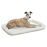 MidWest Homes for Pets Homes for Pets Quiet Time Fleece Bolster Pet Bed – Cream – 36 x 23 inch (40236)