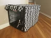 528 Zone Modern Brown & White Designer Dog Pet Wire Kennel Crate Cage House Cover (Small, Medium, Large, XL, XXL) (XXL 48x30x33)