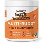 Jack&Pup Dog Vitamins and Supplements Multivitamins for Dogs – BarkBuddies Multi-Buddy Dog Multivitamins Chewable Soft Chews Puppy Vitamins and Supplements – Dog Supplements & Vitamins (60ct)