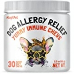 LEGITPET Allergy Relief Chews for Dogs & Immune Support with Kelp, Colostrum & Bee Pollen – for Seasonal Allergies + Anti Itch, Skin Hot Spots Soft Treats