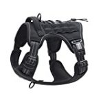 Auroth Tactical Dog Harness for Small Medium Dogs No Pull Adjustable Pet Harness Reflective K9 Working Training Easy Control Pet Vest Military Service Dog Harnesses Black M