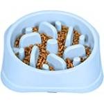 UPSKY Slow Feeder Small Dog Bowls Non-Slip Puzzle Bowl Feeder Interactive Bloat Stop Dog Bowl Anti-Choking Dog Bowl for Small and Medium Dogs(Blue)
