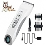 Triumilynn Silent Cat Dog Grooming Clippers, Cordless Pet Trimmer Shavers Set, Rechargeable Animal Hair Grooming Clipper with 4 Size Combs Attachment, USB Charging Cord