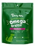 Zesty Paws Omega OraStix for Dogs – Dental Sticks with Hemp Salmon Krill Oil Bone Broth Anti Itch Skin Coat Care Hip & Joint Health Heart Immune System Support Dog Tartar Teeth Cleaning 25oz