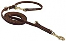 Durable Multi Function 8ft Dog Leash, Genuine Leather Leash Hands Free Leash Dog Training Leash for Small, Medium and Large Dogs