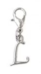It's All About…You! Letter Initial Stainless Steel Clasp Clip on Charm Letter L 73L