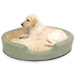 K&H Pet Products Thermo-Snuggly Sleeper Heated Pet Bed Large Sage 31″ x 24″ 6W