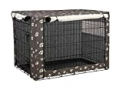 TUYUU Dog Crate Cover,Indoor/Outdoor Durable Waterproof Kennel Covers, Pet Kennel Cover for Medium and Large Wire Dog Crate, with Double Door and Mesh Window (L: 37x24x25 inches, Y01)