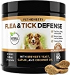 PetHonesty Flea & Tick Defense Supplement – Natural Flea and Tick Soft Chew for Dogs, Pest Defense to Promote BodyÍs Natural Response, Oral Flea Pills for Dogs – 90 ct
