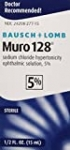 Eye Drops by Muro 128, Temporary Relief for Corneal Edema, 5% Solution, 0.5 Fl Oz