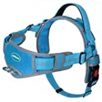 ThinkPet No Pull Halter Breathable Sport Harness – Escape Proof/Quick Fit Reflective Padded Dog Safety Vest with Handle Back/Front Clips, Easy for Small Dog Walking Training, S Light Blue