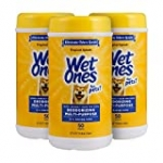 Wet Ones for Pets Deodorizing Multi-Purpose Dog Wipes With Baking Soda, 50 Count – 3 Pack| Dog Deodorizing Wipes For All Dogs in Tropical Splash Scent, Wet Ones Wipes for Deodorizing Dogs