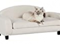 Paws & Purrs Pet Upholstered Sofa Bed, Oatmeal, 31.5″W x 19.5″D x 15.5″H