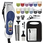 Wahl Corded Clipper Color Pro Complete Hair Cutting Kit for Men, Women, & Children with Colored Guide Combs for Smooth, Easy Haircuts – Model 79300-1001