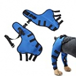 XIDAJIE Dog Hind Legs Protector, Double Hind Leg Brace, Dog Braces with Straps for Back Legs Treat Knee Cap Dislocation Super Supportive Keeps The Joint Stable, Reduces Pain and Inflammation