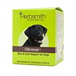 Herbsmith Glimmer – Dog Healthy Skin and Coat + Dog Treatment for Dry Itchy Skin – Omega-3 Supplement for Dogs – 60ct Large Chews