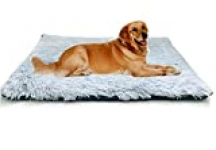 Agkey Pet Blanket Dog Beds Crate Pad Mat 39″x 27″ Pet Bed Comfortable Pet Sleeping Pad Reusable Washable Warm Bed Mat Cat Beds Anti-Slip Dog Mattress Kennel Pad Large