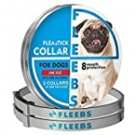 Dog Flea and Tick Collar Adjustable Prevention for Large and Small Dogs, Dogs Flea Treatment, 24.4 in, 2 Pack
