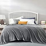 Bedsure Fleece King Size Blankets for Bed Grey – Bed Blanket King Size Soft Lightweight Plush Cozy Fuzzy Luxury Microfiber, 108×90 inches