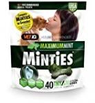 VetIQ Minties Dog Dental Bone Treats, Dental Chews for Dogs, (Perfect for Tiny / Small Dogs under 40 lbs), 40Treats