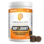 PROGILITY Hip Joint Soft Chews for Dogs with Organic Tumeric 90ct, Brown (VP90HJ)