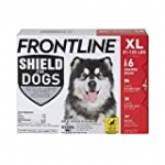 FRONTLINE Shield for Dogs Flea & Tick Treatment, 81-120 lbs, 6ct