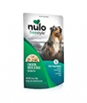 Nulo Freestyle Natural Dog Food Topper, 2.8 oz. Pouch – Grain Free Real Meat Dog Treats for All Breeds & Sizes – Lean Muscle Mass and Healthy Heart, Chicken, Duck, & Kale in Broth, Pack of 6