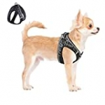 ACKERPET Comfort Step in Dog Harness Easy to Put on Small Dog Harness Choke Free Adjustable Pet Vest No Pull Outdoor Sport Vest Harness Reflective Soft Vest for Small Medium Dogs Pup (XS, Grey)