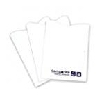 Samsonite 3-Pack Credit Card RFID Sleeves, White, One Size