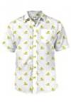Men's White Dapper Ducky Hawaiian Shirt – Rubber Duck Button Down Aloha Shirt